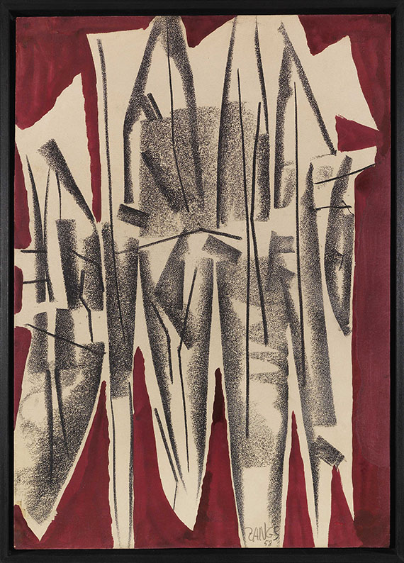 Herbert Zangs - PEB I (Kohle-Gemälde) - Frame image