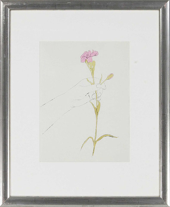 Andy Warhol - Hand and Flowers - Frame image