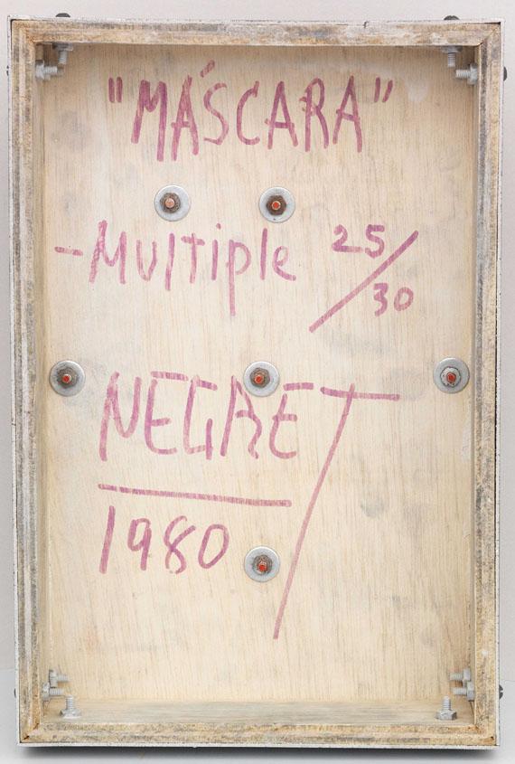 Edgar Negret - Máscara - Rückseite