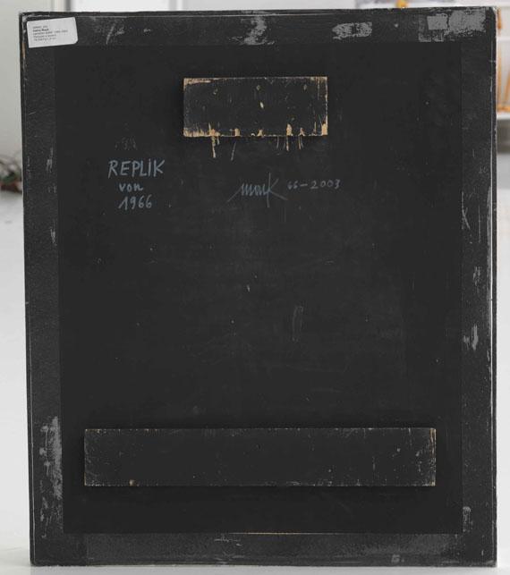 Heinz Mack - Lamellen-Relief - Rückseite