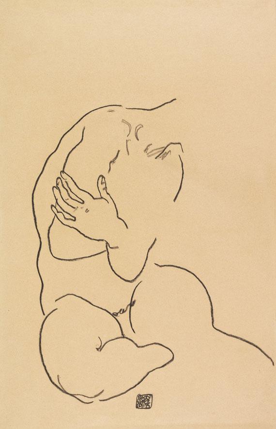 Egon Schiele - Sitzender weiblicher Torso