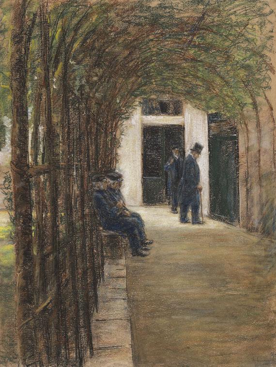 Max Liebermann - Altmännerhaus in Amsterdam (Garten im Brentanostift in Amsterdam)
