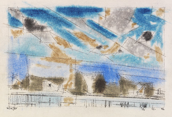 Lyonel Feininger - Houses by the River