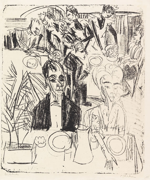 Ernst Ludwig Kirchner - Dinertafel-Sanatorium