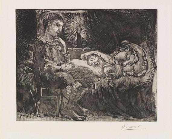 Pablo Picasso - Garçon et dormeuse à la chandelle
