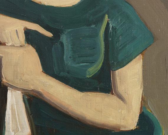 Karl Hofer - Im grünen Kleid -