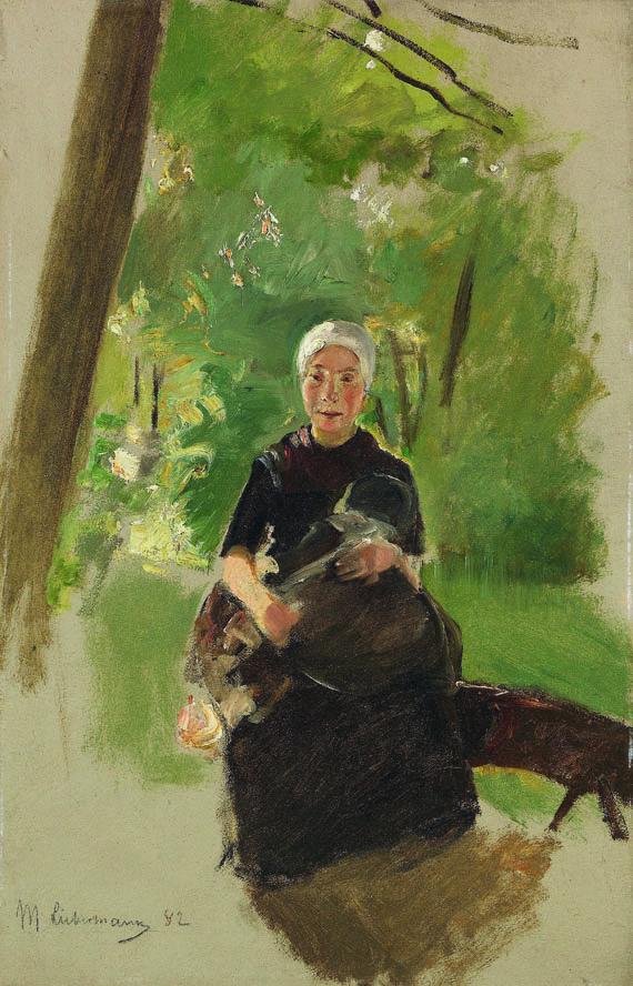 Max Liebermann - Junge Mutter unter Bäumen