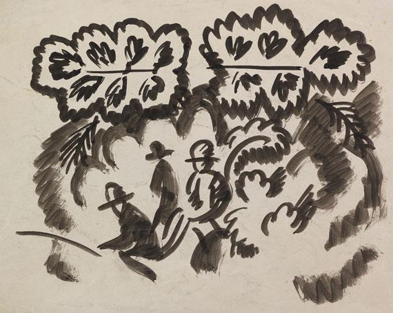August Macke - Sitzende Männer im Park