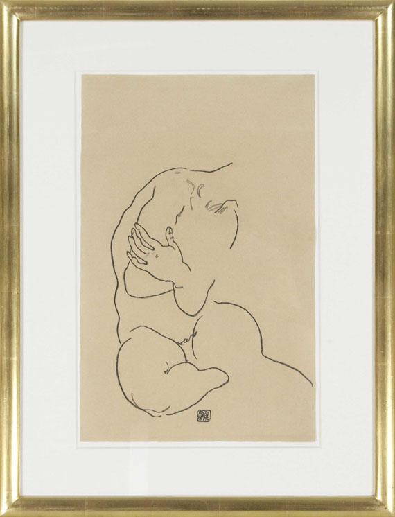 Egon Schiele - Sitzender weiblicher Torso - Frame image