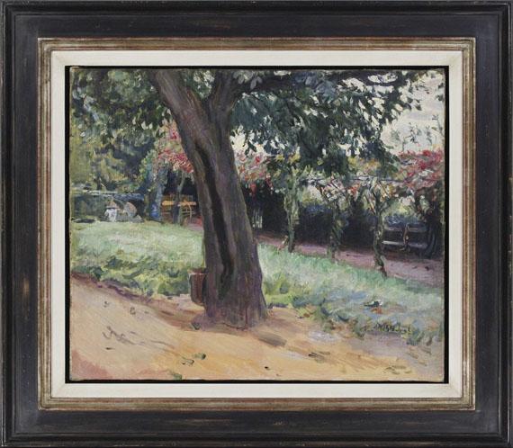 Max Slevogt - Kastanie im Vorhof von Neukastel - Frame image