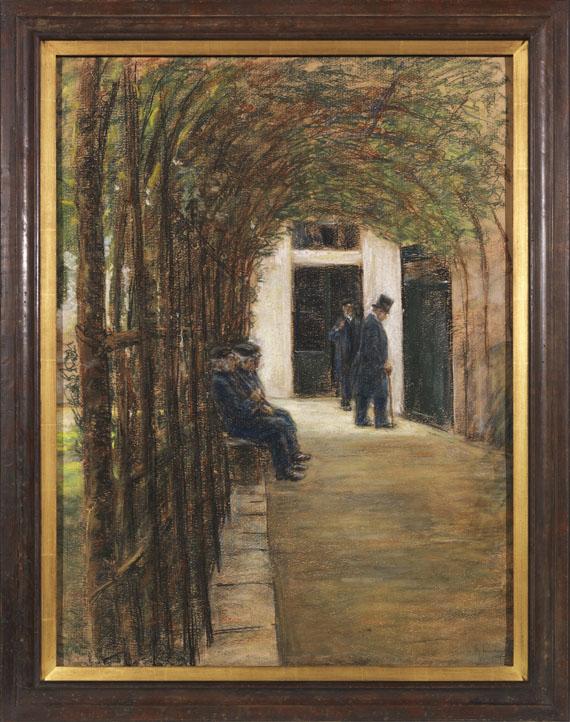 Max Liebermann - Altmännerhaus in Amsterdam (Garten im Brentanostift in Amsterdam) - Frame image