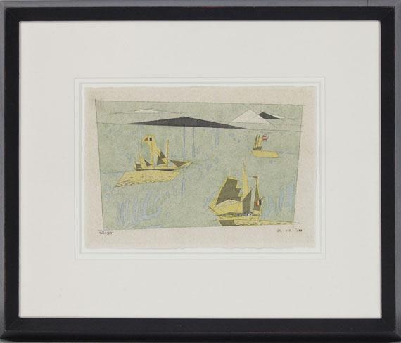 Lyonel Feininger - Drei Segelschiffe - Rahmenbild