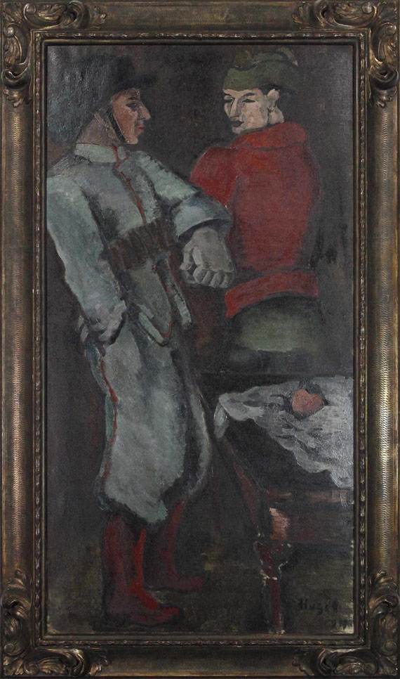 Helmut Kolle gen. vom Hügel - Zwei Soldaten - Frame image