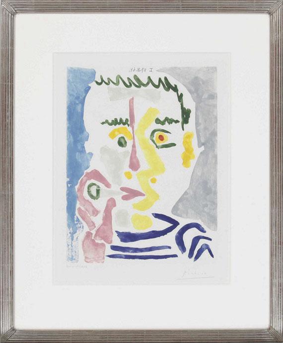 Pablo Picasso - Fumeur à la cigarette blanche - Frame image
