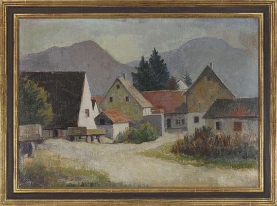 Karl Hofer - Badische Landschaft - Rahmenbild