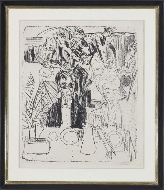 Ernst Ludwig Kirchner - Dinertafel-Sanatorium - Rahmenbild