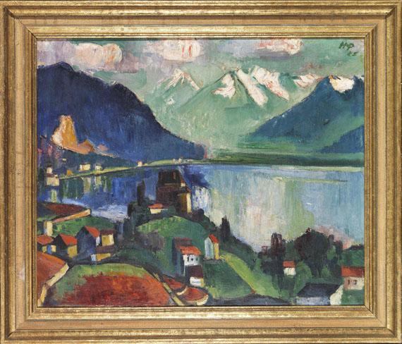 Hermann Max Pechstein - Am Genfer See - Rahmenbild