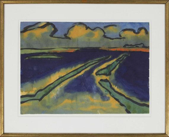 Emil Nolde - Marschlandschaft - Frame image
