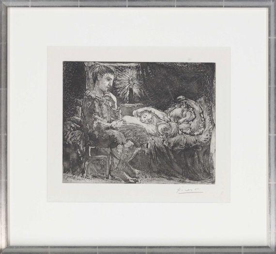 Pablo Picasso - Garçon et dormeuse à la chandelle - Frame image