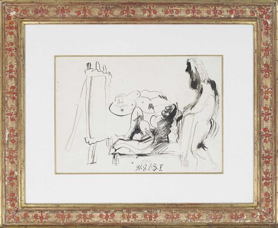 Pablo Picasso - Peintre et modèles - Frame image