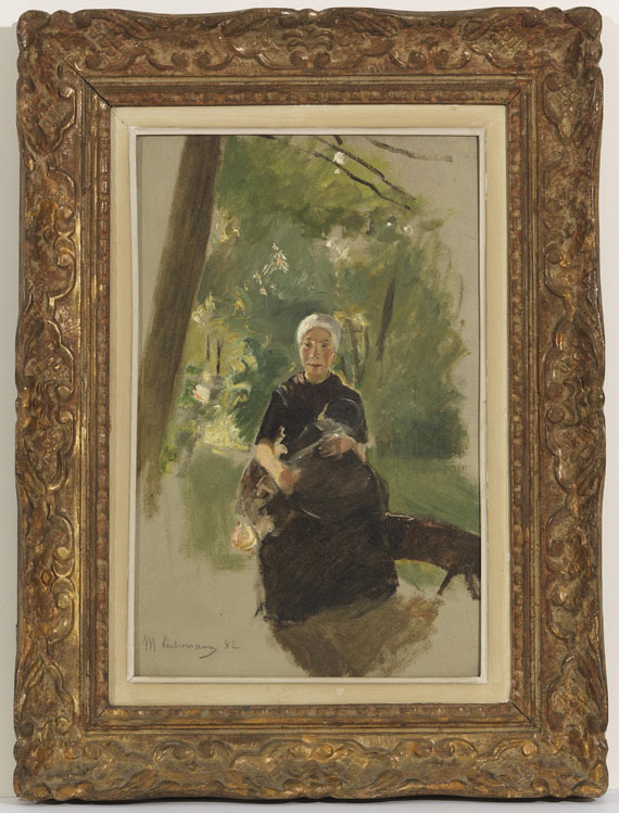 Max Liebermann - Junge Mutter unter Bäumen - Frame image