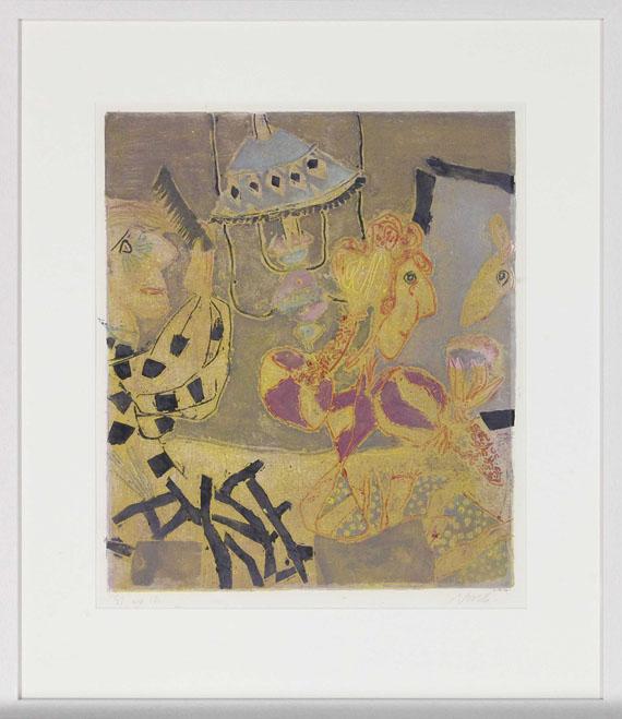 Rolf Nesch - Theater-Garderobe - Frame image
