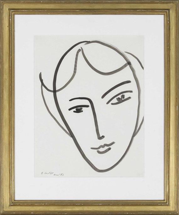 Henri Matisse - Tête de jeune Fille - Frame image