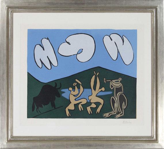 Pablo Picasso - Bacchanale au Taureau Noir - Frame image