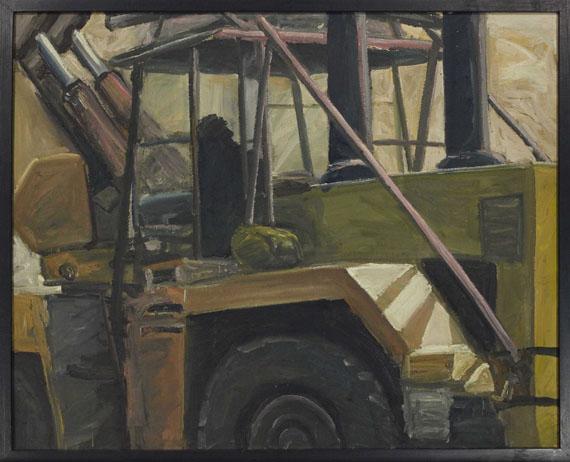 Ralph Fleck - Steinbruch (Bild und zwei Ausschnitte) - Rahmenbild