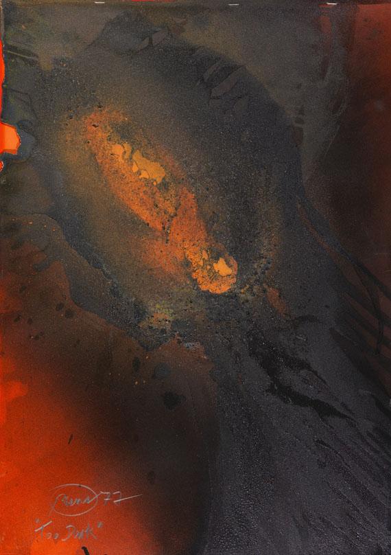 Otto Piene - Too dark (Feuergouache)