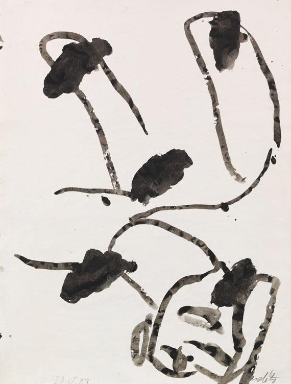 Georg Baselitz - Ohne Titel (Schultafel)