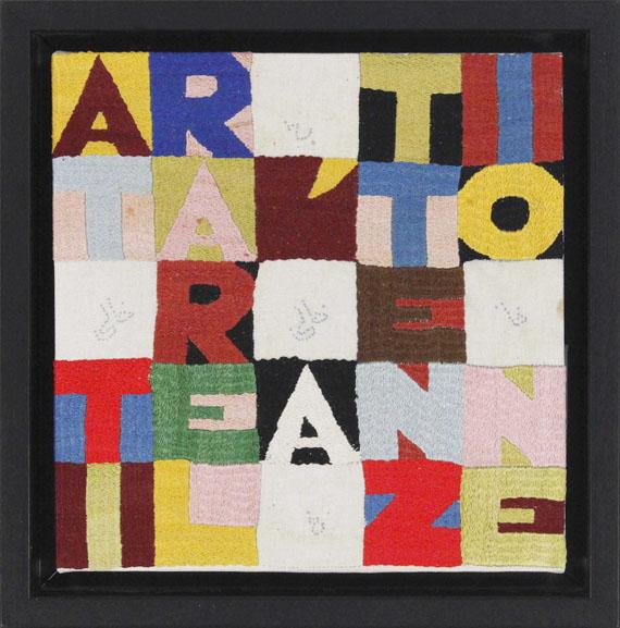 Alighiero e Boetti - Attirare l'attenzione (Die Aufmerksamkeit anziehen) - Frame image