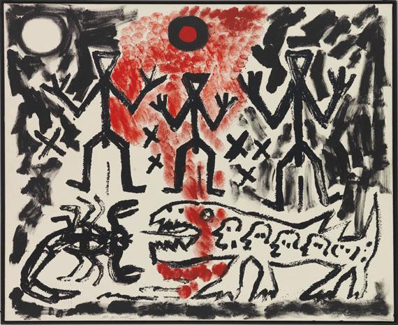 A. R. Penck (d.i. Ralf Winkler) - Drei von Vielen - Frame image