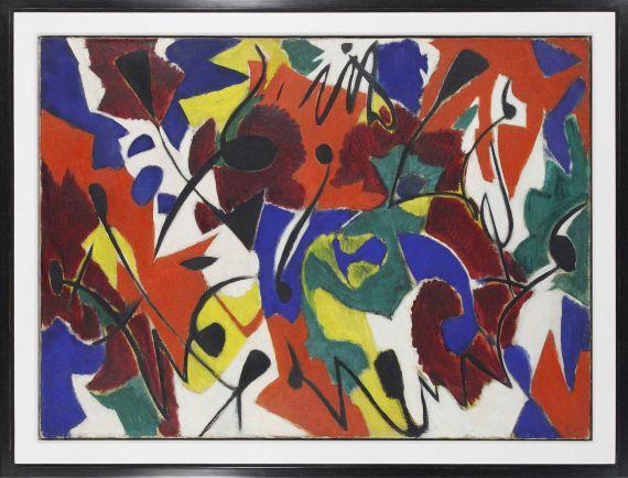 Ernst Wilhelm Nay - Purpurmelodie - Frame image