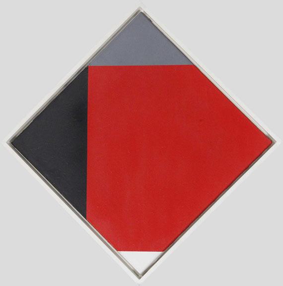 Max Bill - Rotes Quadrat in verwanderten Ecken - Frame image