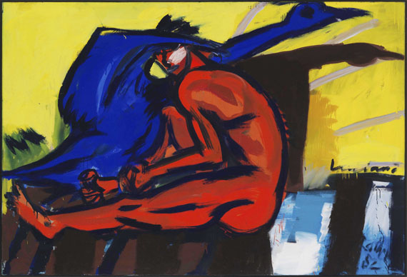 Rainer Fetting - Luciano - Schwan - Frame image