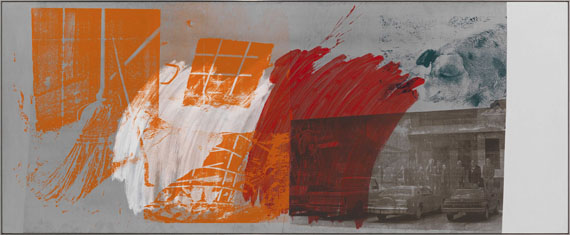 Robert Rauschenberg - County Sweep (Galvanic Suite) - Frame image