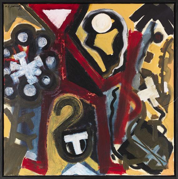 A. R. Penck (d.i. Ralf Winkler) - Aus: Irak Serie (Tu 2) - Rahmenbild