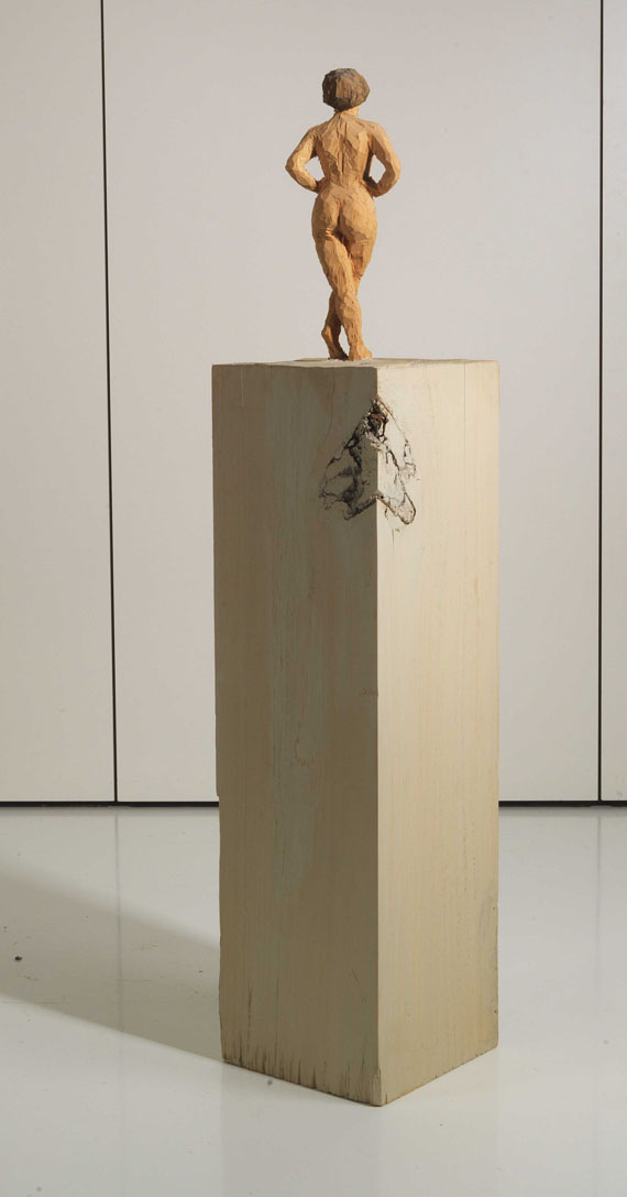 Stephan Balkenhol - Stehender Frauenakt - Back side