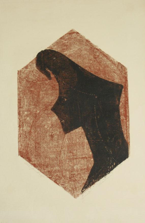 Ewald Mataré - Zeichen eines Kopfes (Mädchenkopf)