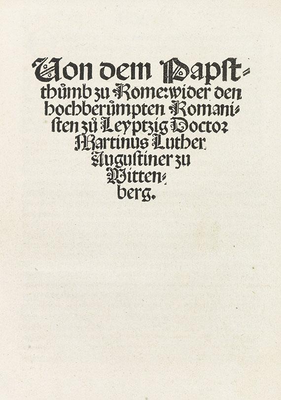 Martin Luther - Von dem Papstthumb