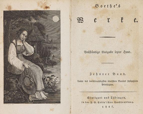 Johann Wolfgang von Goethe - Werke. Vollständige Ausgabe letzter Hand. 55 Bde. 1827ff.