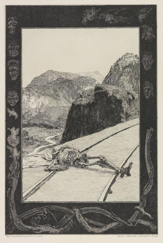 Max Klinger - Vom Tode. Rad. Opus XI
