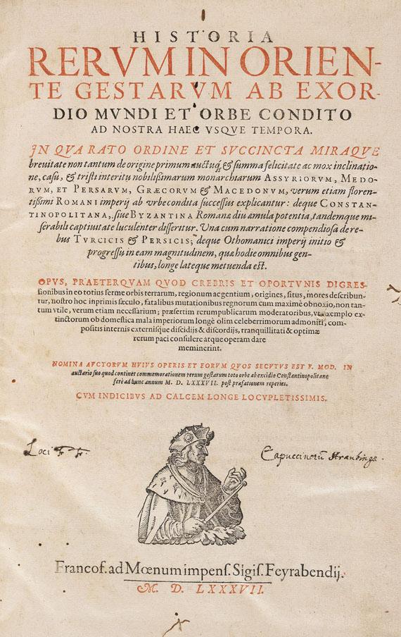 Wolf, Hieronymus - Historia rerum in Oriente gestarum
