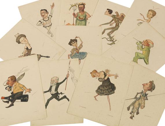 Nicolai Legat - Russkij Balet v Karikatura