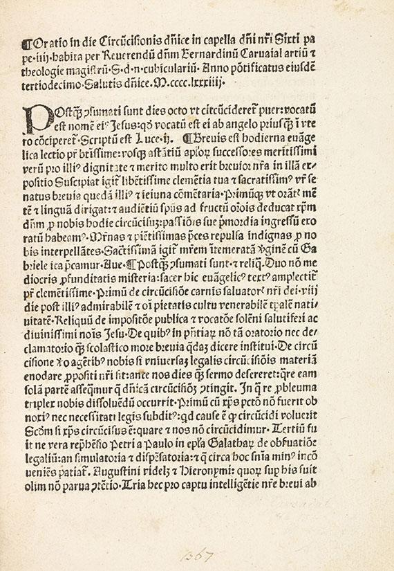 Bernadinus Carvajal - Oratio in die circumcisionis.