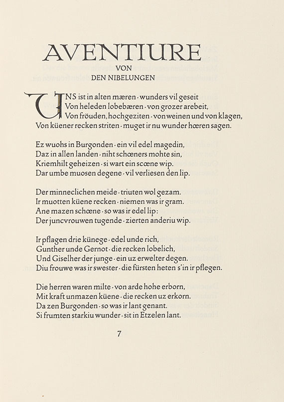 Nibelunge Not, Der - Der Nibelunge Not. 2 Bände
