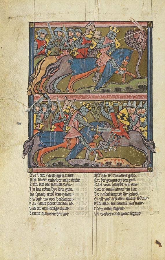 Rudolf von Ems - Weltchronik - Der Stricker. 2 Bände
