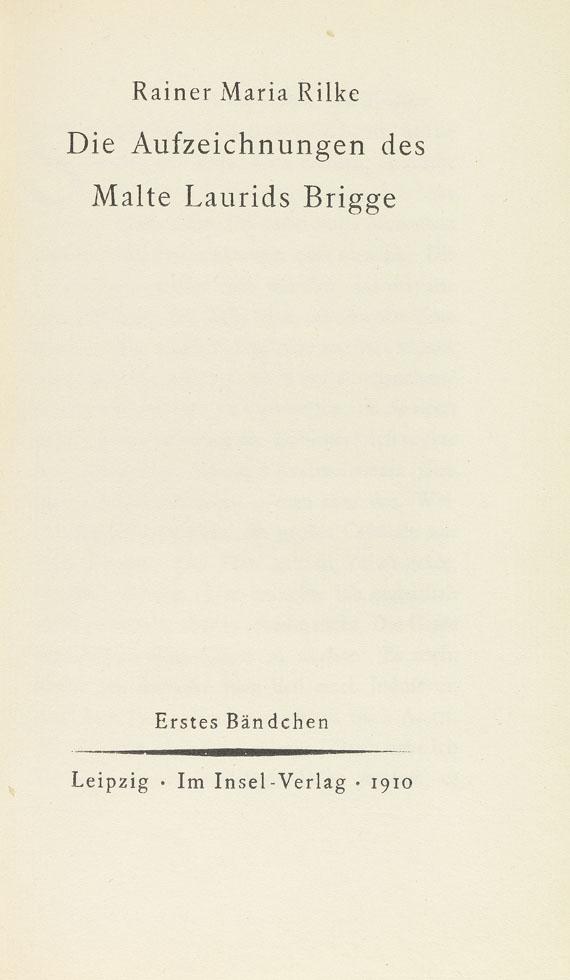 Rainer Maria Rilke - Aufzeichnungen des Malte Laurids Brigge. 2 Bände in 1 Schuber