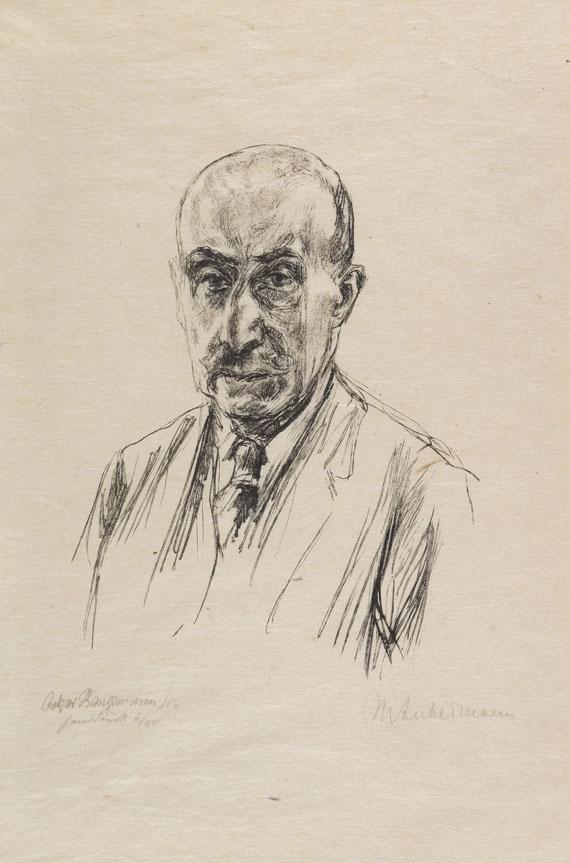 Max Liebermann - (nach) Porträt (Holzstich von O. Bangemann)